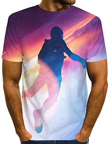 Erkek Tişört 3D Temel Gökküşağı