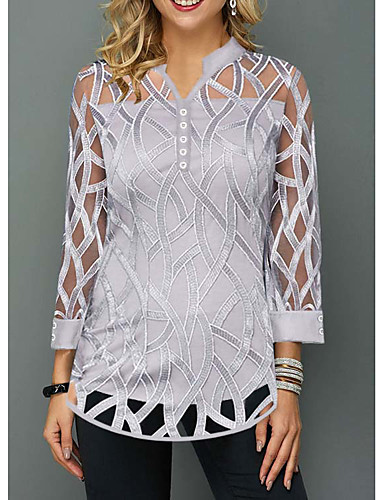 povoljno Ženske majice-Bluza Žene Dnevno Jednobojni Sive boje
