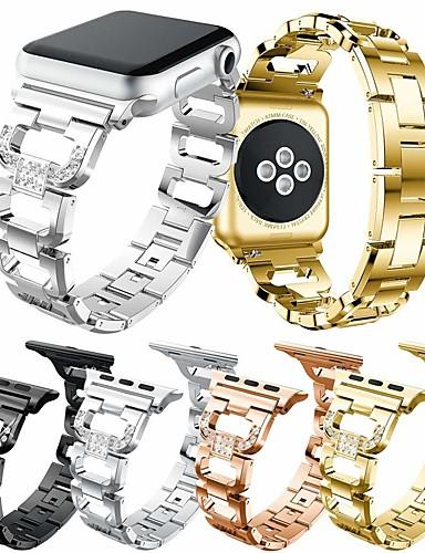Watch Band için Apple Watch Series 4 / Apple Watch Series 4/3/2/1 Apple Takı Tasarımları Paslanmaz Çelik Bilek Askısı