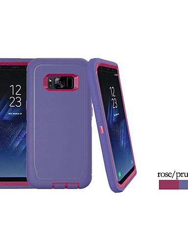 Pouzdro Uyumluluk Samsung Galaxy S8 Plus Şoka Dayanıklı Arka Kapak Solid Silika Jel