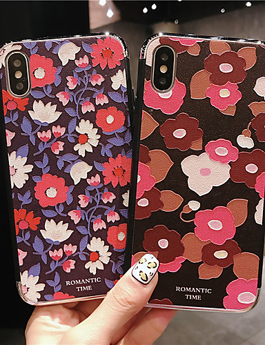 Pouzdro Uyumluluk Apple iPhone XS / iPhone XR / iPhone XS Max Şoka Dayanıklı / Toz Geçirmez / Temalı Arka Kapak Çiçek PC