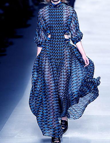 voordelige Maxi-jurken-Dames Elegant Wijd uitlopend Jurk - Geometrisch, Pailletten Maxi