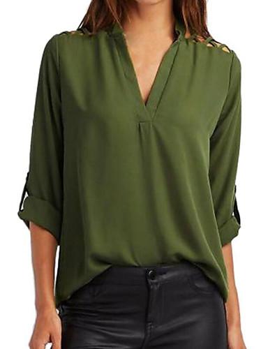 billige Topper til damer-Skjorte Dame - Ensfarget Grunnleggende Rosa
