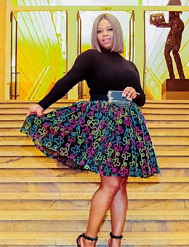 זול חצאיות לנשים-קשת - חצאיות גזרת A בסיסי בגדי ריקוד נשים קשת S M L