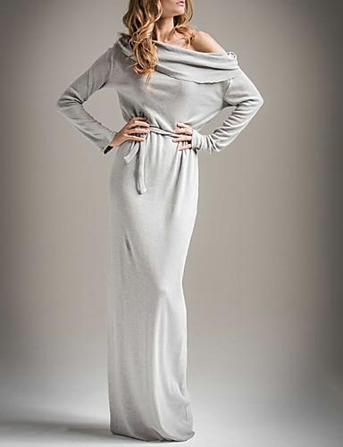 voordelige Maxi-jurken-Dames Schede Jurk - Effen Maxi