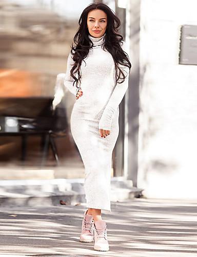 voordelige Maxi-jurken-Dames Standaard Elegant Bodycon Jurk - Effen Maxi