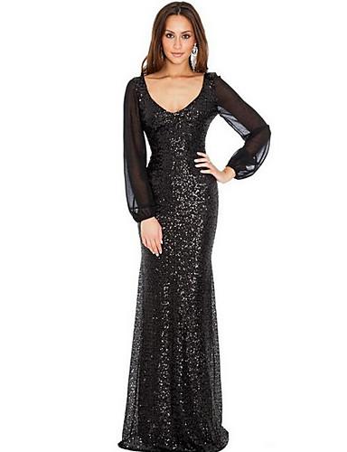 voordelige Maxi-jurken-Dames Bodycon Jurk - Effen Maxi