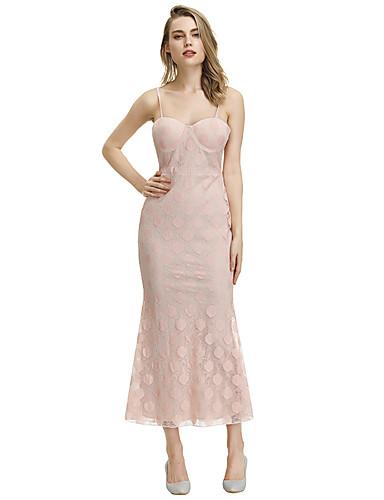 voordelige Maxi-jurken-Dames Schede Jurk - Polka dot Midi