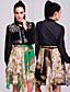 ieftine Rochii de Damă-TS stil baroc imprimat rochie camasa sifon (mai multe culori)