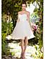 Χαμηλού Κόστους Νυφικά-Βραδινή τουαλέτα Καρδιά Μέχρι το γόνατο Ταφτάς / Τούλι Φορέματα γάμου φτιαγμένα στο μέτρο με Πιασίματα / Χιαστί με LAN TING BRIDE®