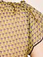 저렴한 TS 상의-TS 쉬폰 꽃 프린트 블라우스 셔츠