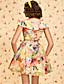 baratos Vestidos TS-ts vintage floral impresso vestido inchado com cinto