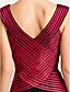 hesapli Gece Elbiseleri-Sütun V Yaka Yere Kadar Tül Pileler Haç ile Resmi Akşam / Askeri Balo Elbise tarafından TS Couture®