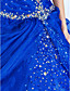 cheap Special Occasion Dresses-Ball Gown Sweetheart Floor-length Organza Evening/Prom Dress With Beading And Side Draping