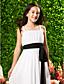 levne Šaty pro mladé družičky-Pouzdrové Špagetová ramínka Dlouhá vlečka Šifón Šaty pro malou družičku s Mašle Nabírání Šerpa / Stuha podle LAN TING BRIDE®