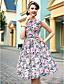 cheap TS Dresses-TS VINTAGE Flora Print Sleeveless Skater Dress