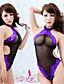 voordelige Damesnachtkleding-Vrouw Kanten lingerie Ultrasexy Nachtkleding Patchwork Kant Netstof Zwart