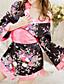 voordelige Damesnachtkleding-Vrouw Ochtendjas Ultrasexy Uniform/chinese jurk Kostuum Nachtkleding Bloemen  Polyester Zwart