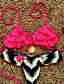 cheap Women's Swimwear & Bikinis-Women's Ruffle Sweet Sexy Push-up Floral Halter Bikinis