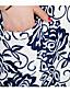 Χαμηλού Κόστους Φορέματα Μεγάλα Μεγέθη-Γυναικεία Καθημερινά / Μεγάλα Μεγέθη Απλό / Κινεζικό στυλ Θήκη Φόρεμα,Στάμπα Κοντομάνικο Λαιμόκοψη U Πάνω από το ΓόνατοΜπλε / Ροζ /