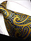 cheap Men's Ties & Bow Ties-Men's Tie  Yellow  Paisley  100% Silk Business New Wedding