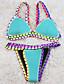 Bayanlar Zıt Renkli Polyester Askısız Balensiz Bayanlar Bikiniler