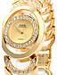 זול שעוני צמיד-בגדי ריקוד נשים שעון צמיד שעוני אופנה קווארץ שעונים יום יומיים מתכת אל חלד להקה אלגנטי כסף זהב