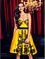 저렴한 프롬 드레스-A-라인 핏 & 플레어 스윗하트 무릎 길이 레이스 새틴 칵테일 파티 댄스 파티 회사 파티 드레스 와 레이스 으로 TS Couture®