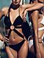 Naisten Kaarituettomat Pehmustetut rintaliivit,Bikini Yksiosainen Yksivärinen Bandage automaattikatkaisin,Polyesteri Hihnoilla Tukeva