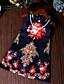 저렴한 여아 드레스-여자의 드레스 플로럴 여름 / 봄 / 가을 레이온 멀티 색상