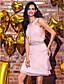 levne Koktejlové šaty-Pouzdrové Klenot Ke kolenům Šifón Koktejlový večírek / Maturita / Svatebnívečírek Šaty s Korálky Šerpa / Stuha podle TS Couture®