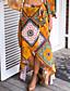 olcso Női szoknyák-Hétköznapi Aszimmetrikus Női Szoknyák Poliészter Nem elasztikus