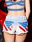 billige Tights til damer-Kvinner Sexy Shorts / Jeans Bukser Bomull Uelastisk