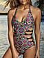 billige Bikinier og bademode 2017-Kvinders Polyester Halterneck Farveblok En del