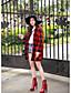 billige Damestøvler-Damer Sko Syntetisk laklæder Kunstlæder Forår Efterår Vinter Cowboy / Western Støvler Militærstøvler Støvle Hæle Gang Kraftige Hæle