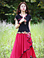 voordelige Damesbovenkleding-Dames Chinoiserie Zomer T-shirt,Uitgaan Geborduurd Sweetheart Korte mouw Katoen Spandex Medium
