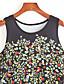 baratos Vestidos de Mulher-Mulheres Vestido Bainha Vintage / Moda de Rua Estampado Mini Decote Redondo Poliéster
