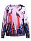 preiswerte Damen Kapuzenpullover & Sweatshirts-Damen Langarm Pullover Druck 3D-Druck Baumwolle