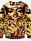 halpa Miesten hupparit ja collegepuserot-Miehet Rento/arki Urheilu Klubi Aktiivinen Katutyyli Punk & Goottityyli College 3D Print Ylisuuret Pyöreä kaula-aukko Polyesteri