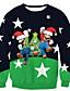 preiswerte Damen Kapuzenpullover & Sweatshirts-Damen Pullover Lässig/Alltäglich Druck Rundhalsausschnitt Mikro-elastisch Polyester Langarm Herbst Winter