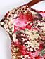 voordelige Grote maten jurken-Dames Strand Grote maten Eenvoudig Street chic Schede Jurk Print-Ronde hals Boven de knie Korte mouw Katoen Polyester Lente Lage taille
