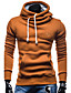 cheap Men's Hoodies & Sweatshirts-Men's Sports Long Sleeves Hoodie - Solid Colored Hooded