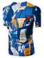 preiswerte Herren T-Shirts & Tank Tops-Herrn Druck Einfach Aktiv Sport Lässig/Alltäglich T-shirt, V-Ausschnitt Sommer Kurzarm Baumwolle