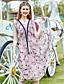baratos Vestidos Femininos-Mulheres Fofo Casual Sofisticado Evasê Chifon balanço Vestido - Fashion Chifon Estampado, Floral Decote V Médio