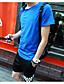 Herren Solide Einfach Sport Lässig/Alltäglich T-shirt,Rundhalsausschnitt Kurzarm Baumwolle