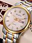 levne Módní hodinky-Pánské Módní hodinky Křemenný Slitina Kapela Běžné nošení Stříbro Zlatá
