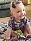 preiswerte Babyoverall-Baby Mädchen Einzelteil Blumen Vintage Modisch Baumwolle Sommer Kurzarm Blumig Blau