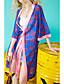 halpa Kimono-topit-Naiset 3/4 hihanpituus V kaula-aukko Polyesteri Kesä Nykyaikainen Päivittäin Kausaliteetti Trenssitakki,Painettu Pitkä