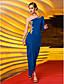 hesapli Gece Elbiseleri-Sütun Tek Omuz Asimetrik Jarse Aplik / Yan Drape ile Balo / Resmi Akşam Elbise tarafından TS Couture®