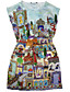 cheap Women's Dresses-Women's Going out Daily Boho Street chic A Line Bodycon Dress Print Round Neck Above Knee Sleeveless Rayon Polyester Summer